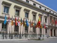 El Palacio del Senado en Madrid